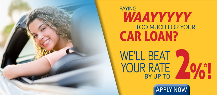 Paying way too much for your car loan? We'll beat it by up to 2%
